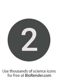 a round, alphanumeric label with the number 2