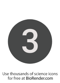 a round, alphanumeric label with the number 3