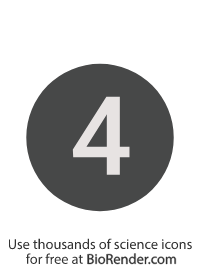 a round, alphanumeric label with the number 4