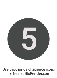 a round, alphanumeric label with the number 5