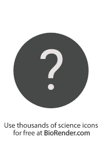 a circle symbol with a question mark