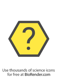 a hexagon symbol with a question mark
