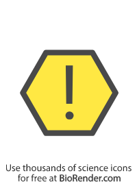 a hexagon symbol with an exclamation mark