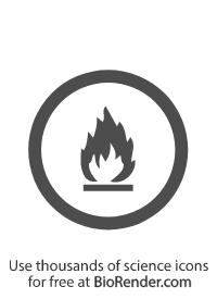 a circular WMHIS symbol of class B flammable and combustible material