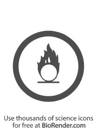 a circular WMHIS symbol of class C oxidizing material