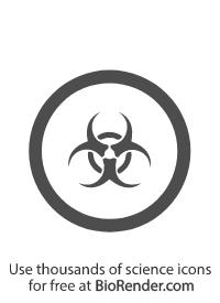a circular WMHIS symbol of class D-3, biohazardous infectious materials