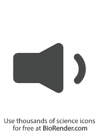 a minimal vector symbol of a speaker playing quiet audio
