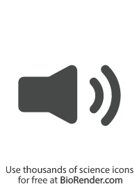 a minimal vector symbol of a speaker playing loud audio