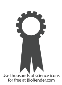 a minimal vector icon of an award ribbon