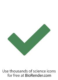 a minimal vector icon of a check mark