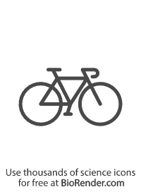 a minimal vector icon of a bicycle