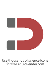 a minimal vector icon of a curved U-shaped magnet