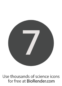 a round, alphanumeric label with the number 7