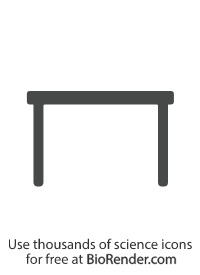 a minimalistic vector icon representing a table with legs