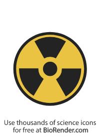 a round radiation warning symbol