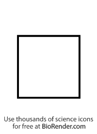 a pedigree symbol of an unfilled square representing an unaffected male