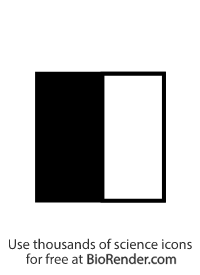 a pedigree symbol of a half-filled square representing a male carrier