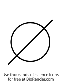 a pedigree symbol of an unfilled circle with a diagonal dash representing a deceased female