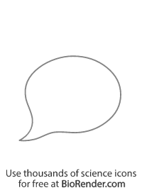 an oval-shaped speech bubble with tail pointing bottom left