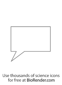 a rectangle-shaped speech bubble with tail pointing bottom left