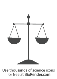 an equal or balanced scale