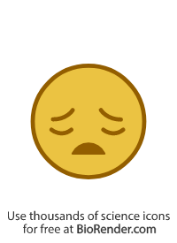a round icon of a face with a sad expression