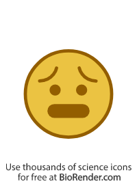 a round icon of a face with an anxious expression