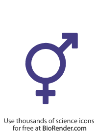 an intersex gender symbol consisting of an arrow on top of and a cross underneath a large circle