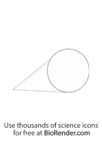 Zoomed callout (circle, line tail, long)