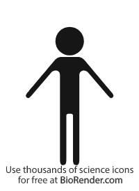 People Icon (adult standing, malnourished)