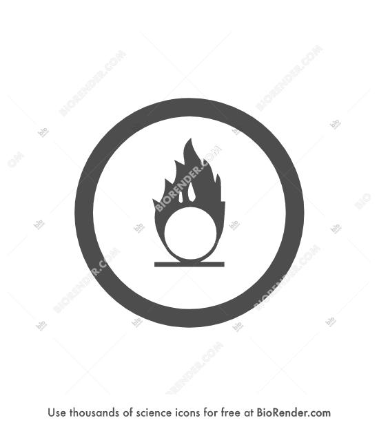 BioRender | WHMIS symbol (class C, oxidizing)